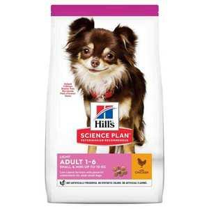 Сухой корм Hill's Science Plan Light для собак мелких пород для поддержания здорового веса, с курицей и рисом 1,5 кг.