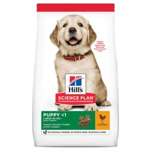 Hill's Science Plan сухой корм для щенков крупных пород с оптимальным содержанием энергии и минералов, с курицей (2,5 кг 12 кг 14,5 кг).