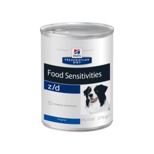 Влажный диетический гипоаллергенный корм для собак (консерва)  Hill's Prescription Diet z/d Food Sensitivities при пищевой аллергии, 370 г